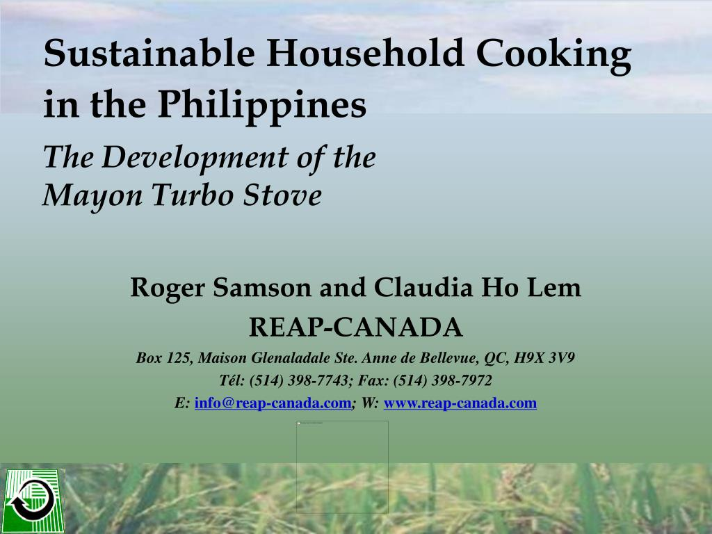 sustainable household cooking in the philippines the development of the mayon turbo stove l.