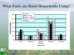 what fuels are rural households using