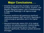 major conclusions33