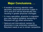 major conclusions34