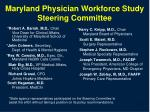 maryland physician workforce study steering committee