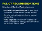 policy recommendations38