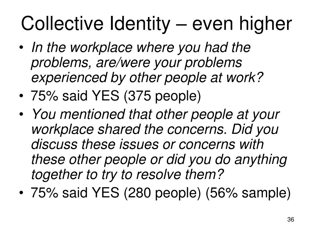 Collective Identity – even higher
