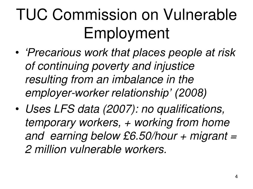 TUC Commission on Vulnerable Employment