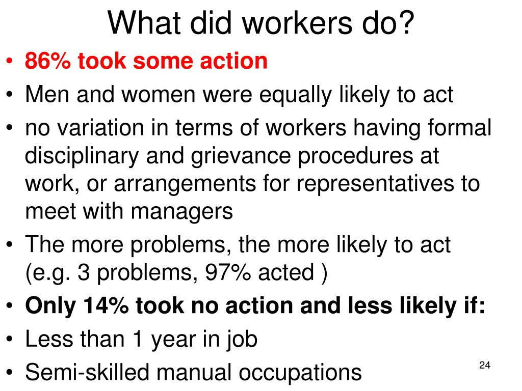 What did workers do?