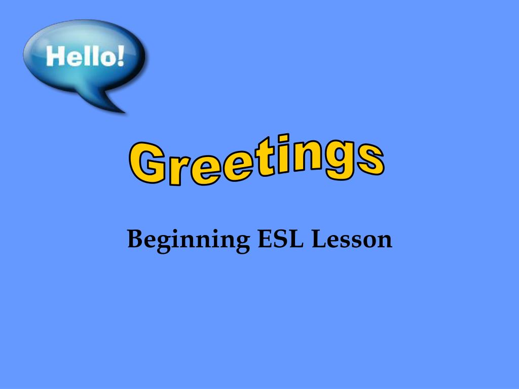 Ppt Beginning Esl Lesson Powerpoint Presentation Id358704
