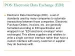 pos electronic data exchange edi