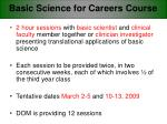 basic science for careers course
