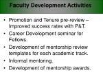 faculty development activities32