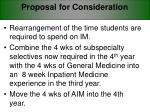 proposal for consideration
