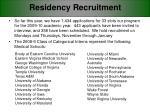 residency recruitment