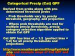 categorical precip cat qpf