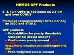 hrmos qpf products
