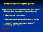 hrmos qpf strengths cont