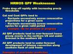 hrmos qpf weaknesses