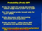 probability prob qpf