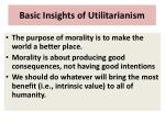 basic insights of utilitarianism