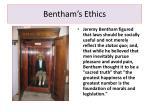 bentham s ethics