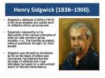 henry sidgwick 1838 1900