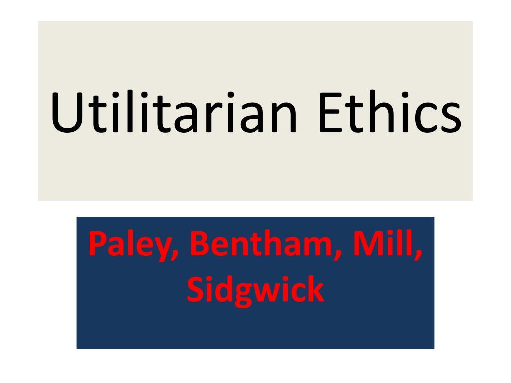 utilitarian ethics l.