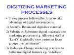 digitizing marketing processes