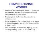 how digitizing works