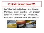 projects in northeast wi
