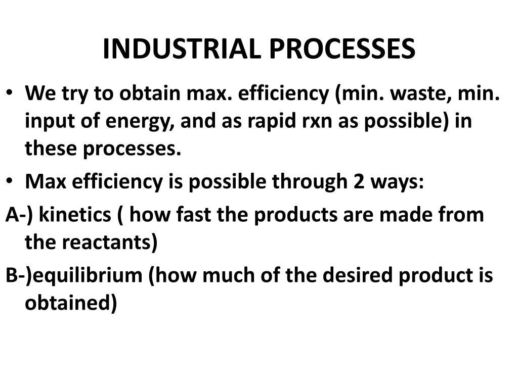 industrial processes l.