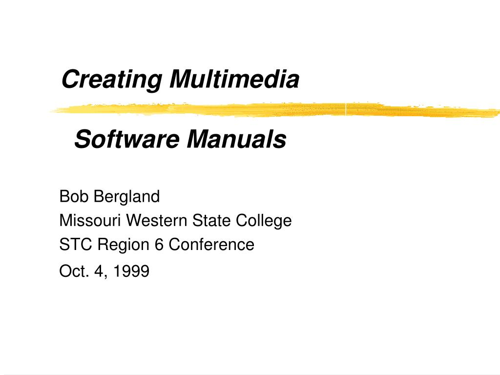 creating multimedia software manuals l.