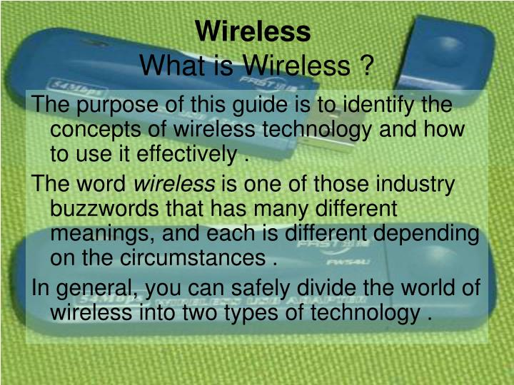 Wireless what is wireless
