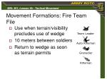 movement formations fire team file