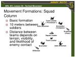 movement formations squad column