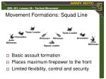 movement formations squad line