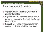 squad movement formations