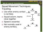 squad movement techniques traveling