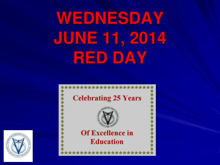 wednesday june 11 2014 red day n.