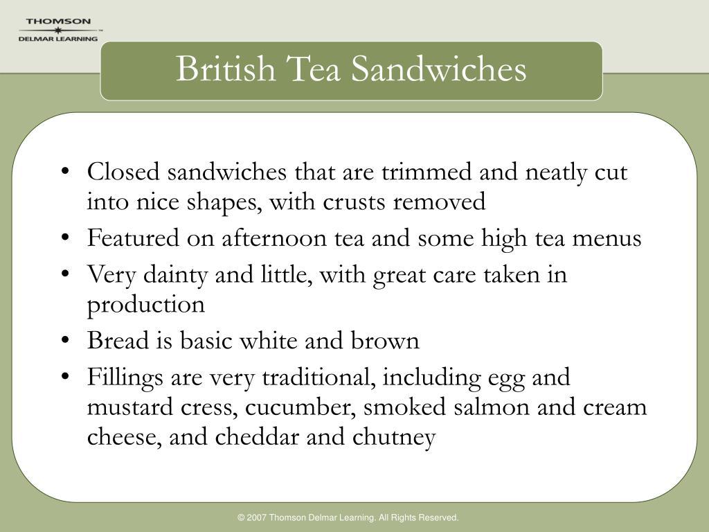 British Tea Sandwiches