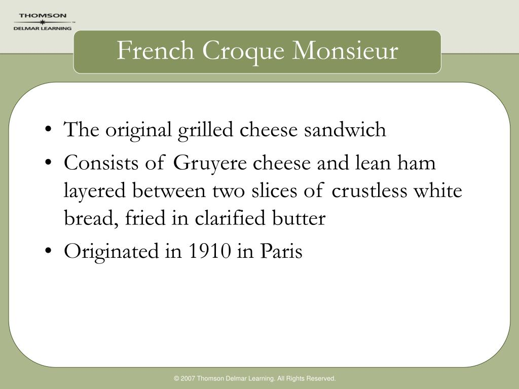 French Croque Monsieur