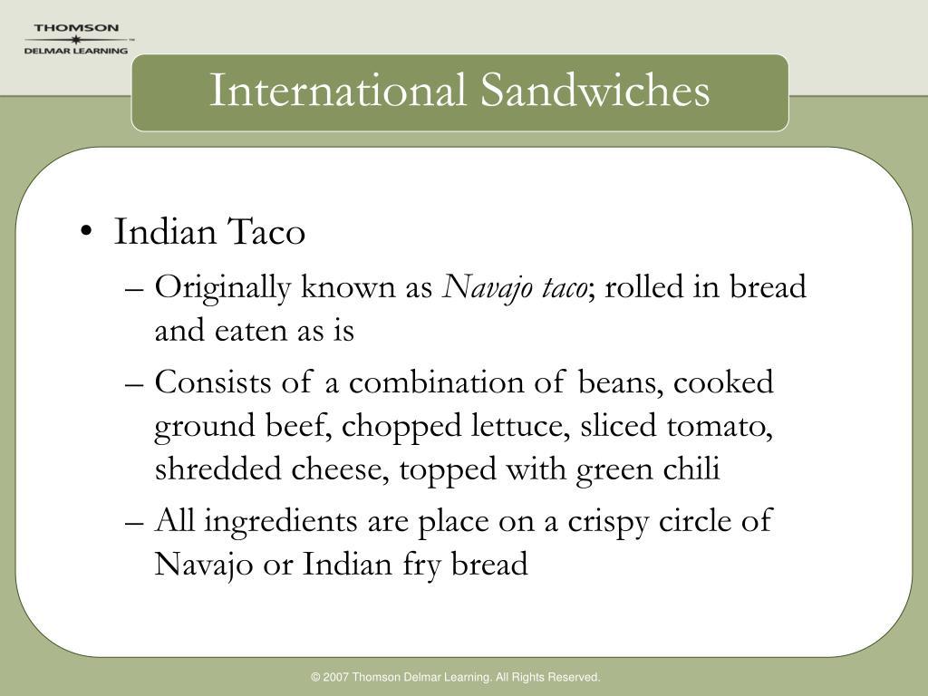 International Sandwiches
