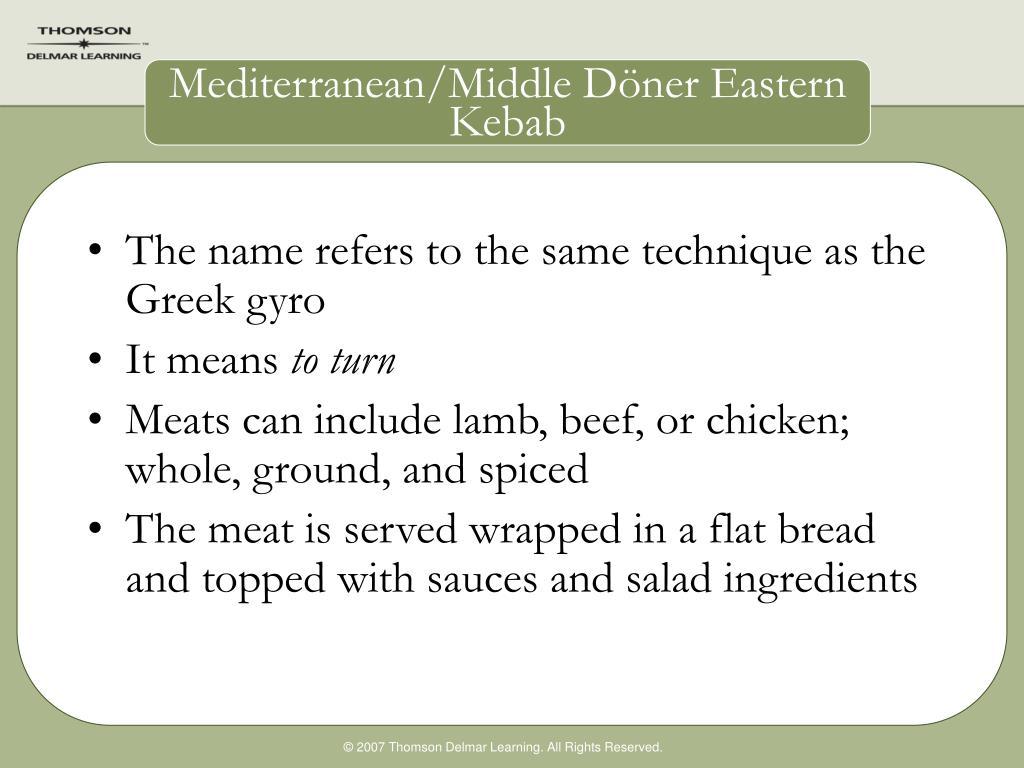 Mediterranean/Middle D