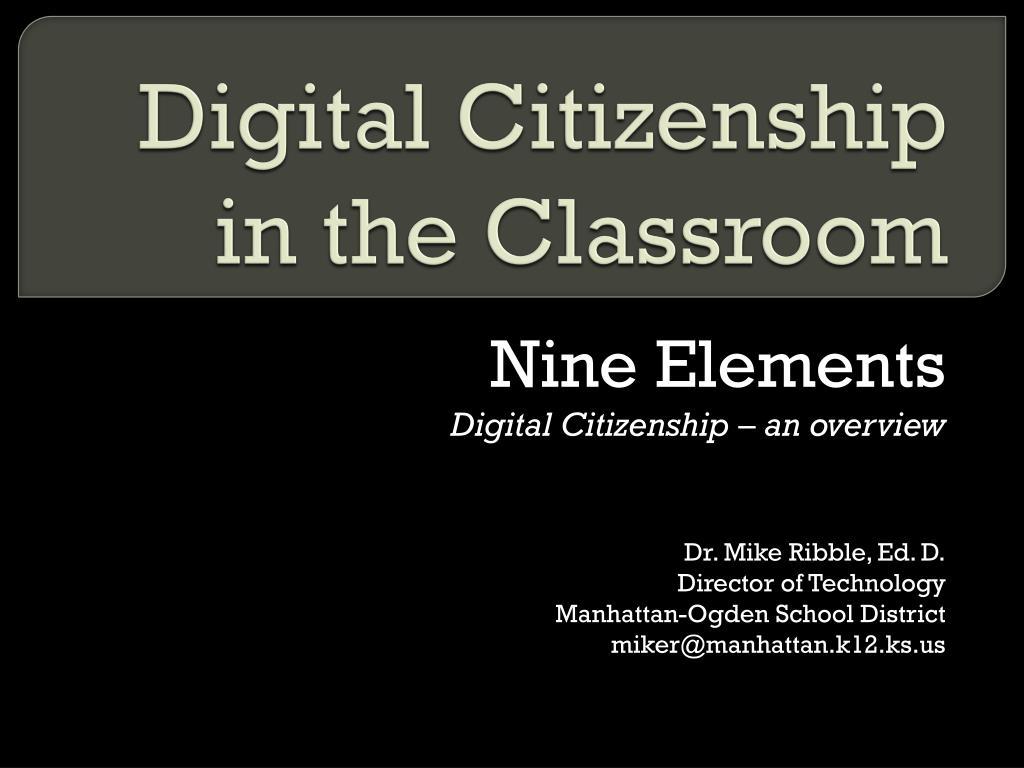 digital citizenship in the classroom l.