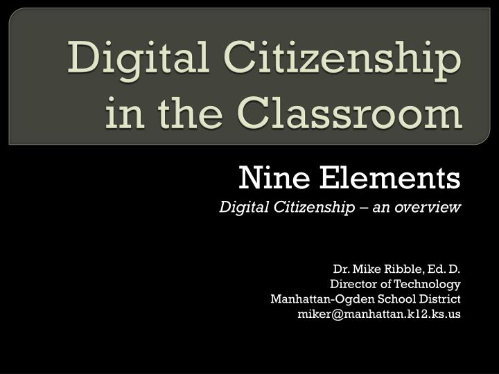 digital citizenship in the classroom n.