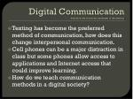 digital communication definition the electronic exchange of information
