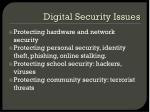 digital security issues