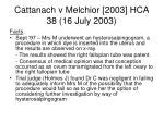 cattanach v melchior 2003 hca 38 16 july 200333