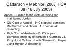 cattanach v melchior 2003 hca 38 16 july 200337