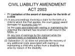 civil liability amendment act 200342