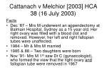 cattanach v melchior 2003 hca 38 16 july 2003