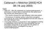 cattanach v melchior 2003 hca 38 16 july 200365