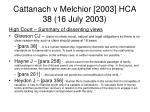 cattanach v melchior 2003 hca 38 16 july 200370